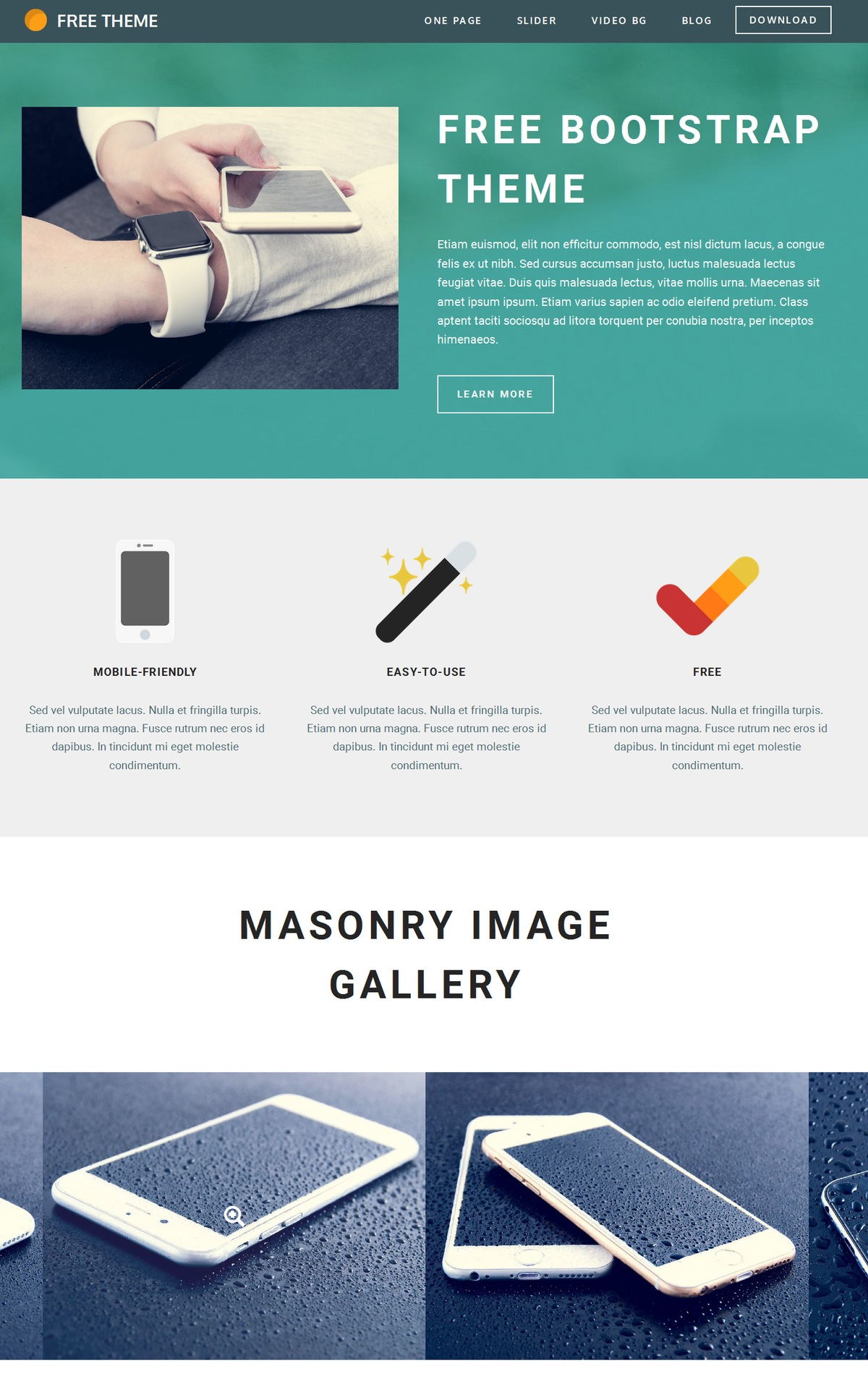 Mobile Bootstrap Gallery Theme