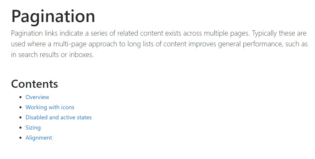 Bootstrap pagination  formal  information