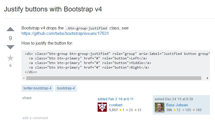 Establish buttons  using Bootstrap v4