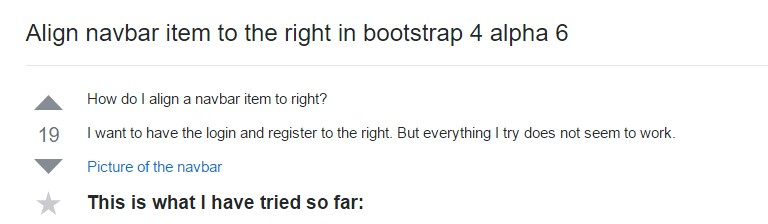 Line up navbar item to the right  within Bootstrap 4 alpha 6