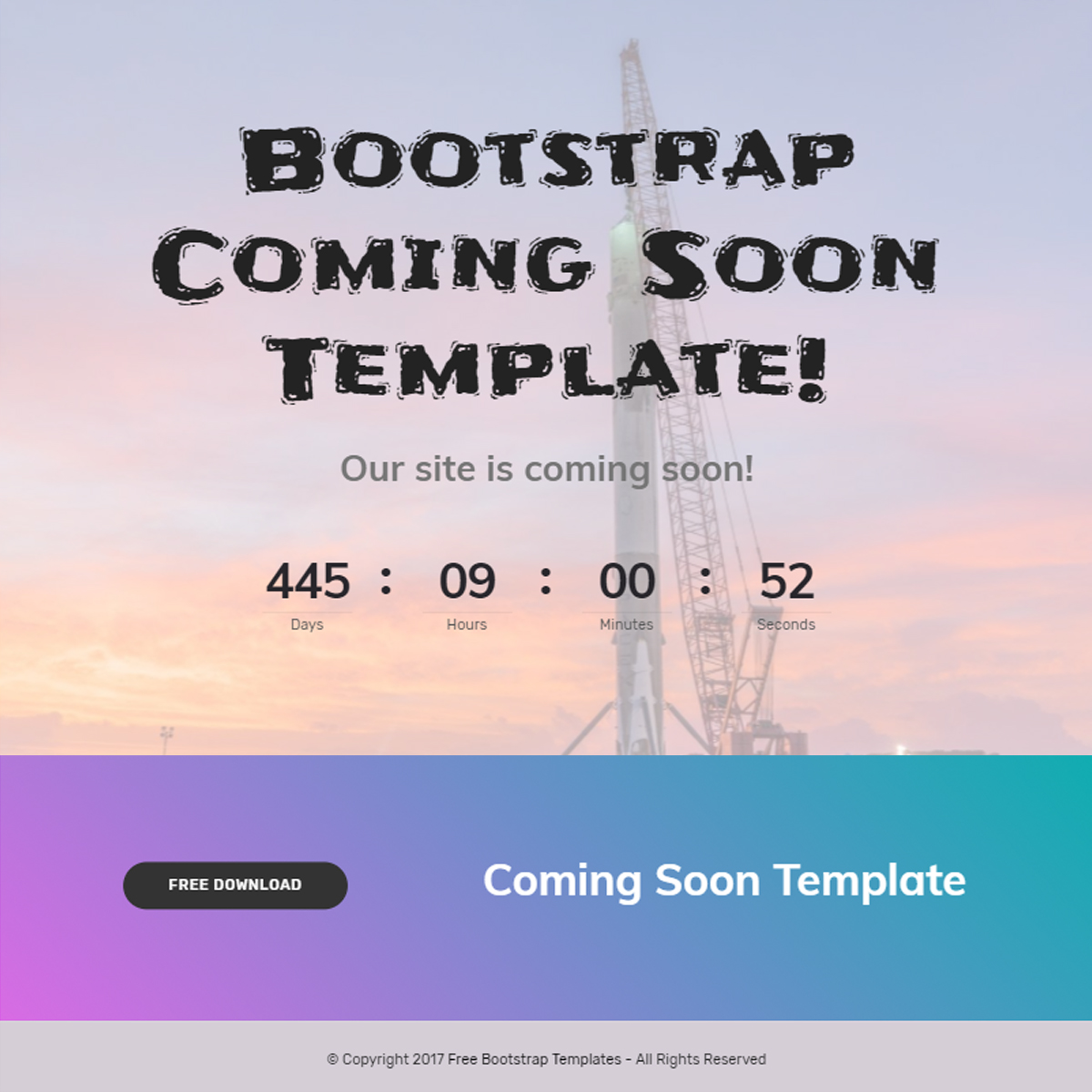 HTML Bootstrap Coming Soon Themes