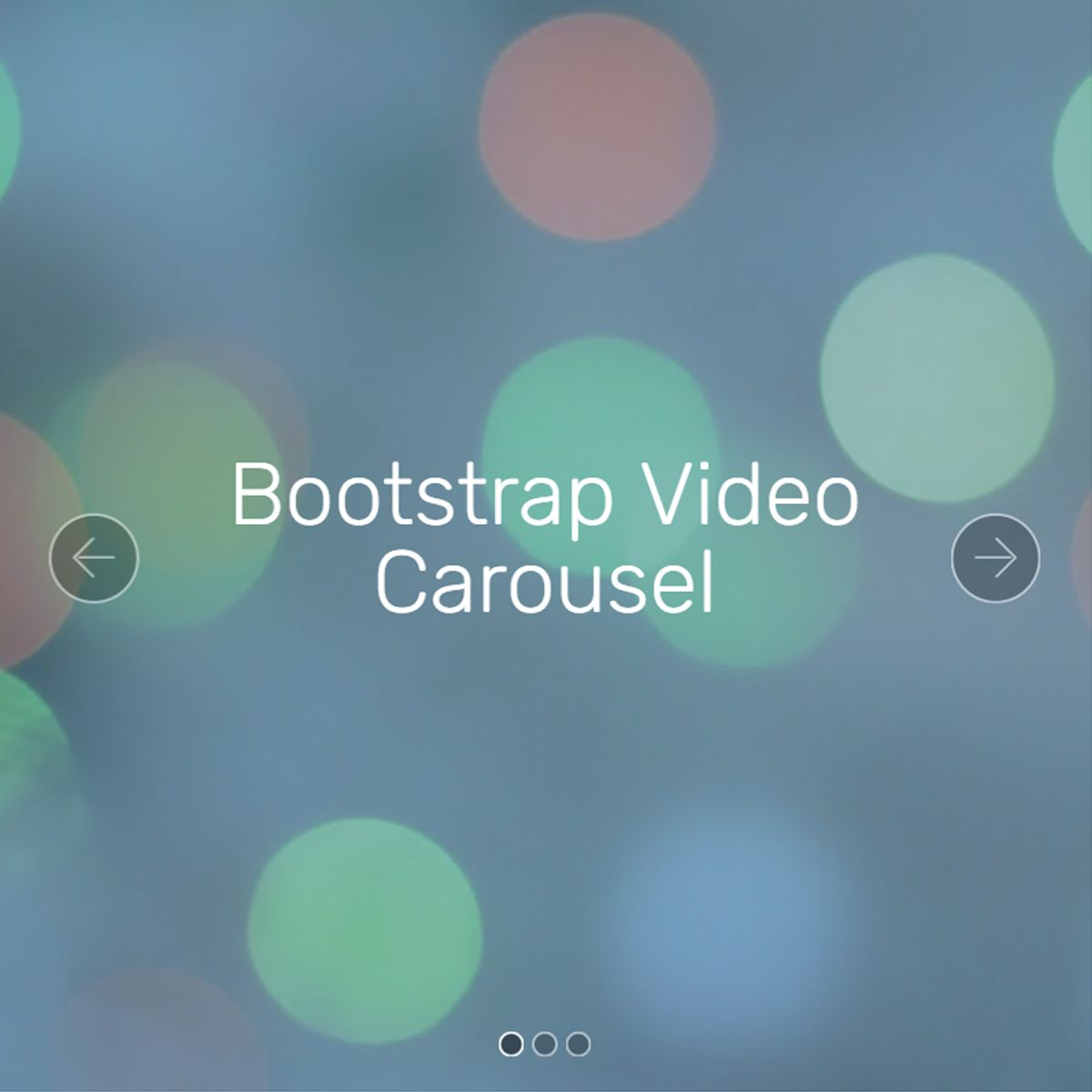 HTML5 Bootstrap Illustration Carousel