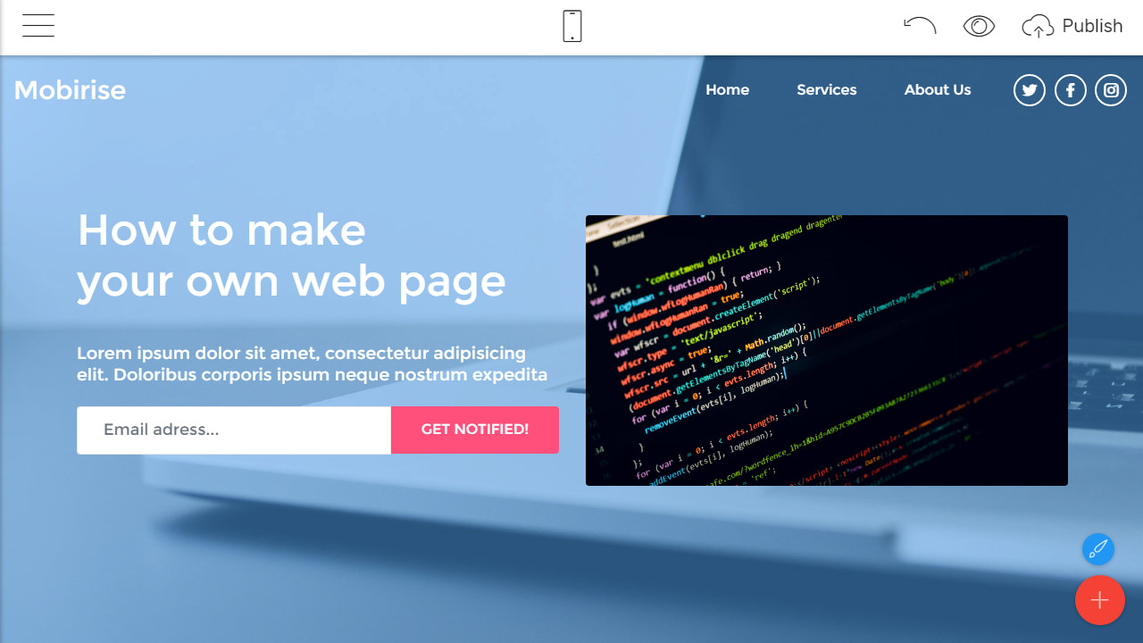 how to make a webpage
