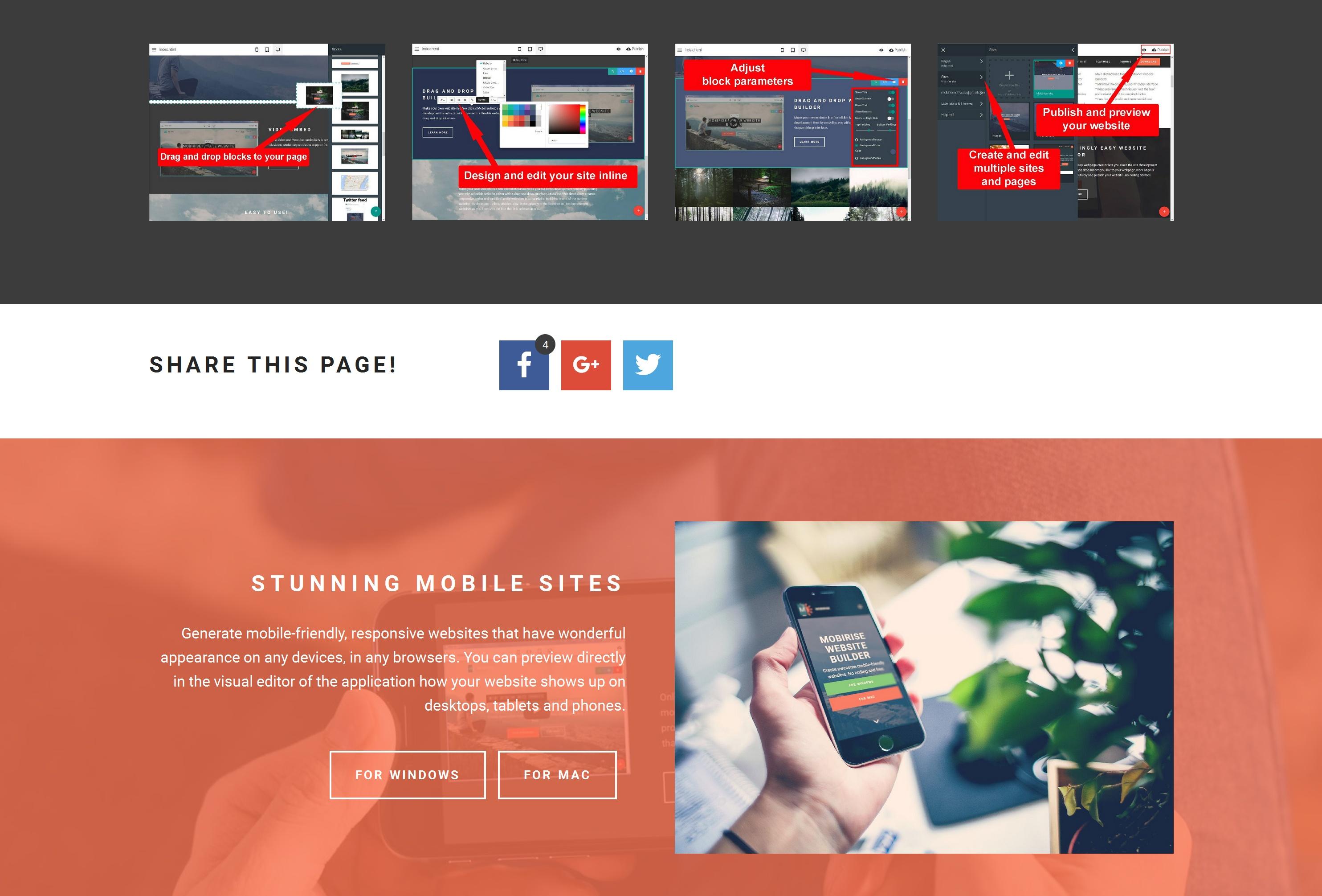 Quick Mobile Web Page  Builder