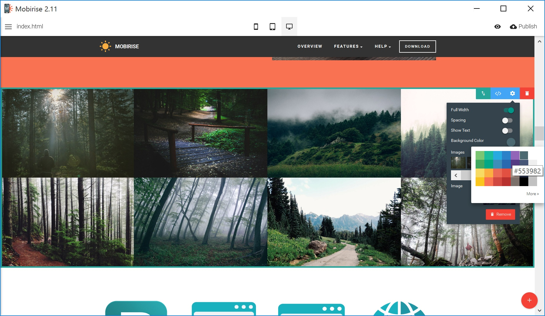 Simple HTML Web Page  Builder Software