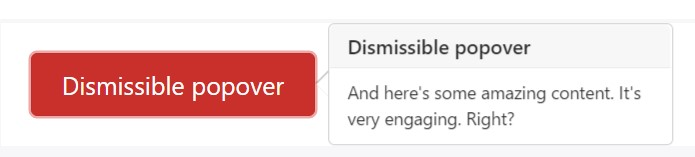 Dismiss  upon  coming click