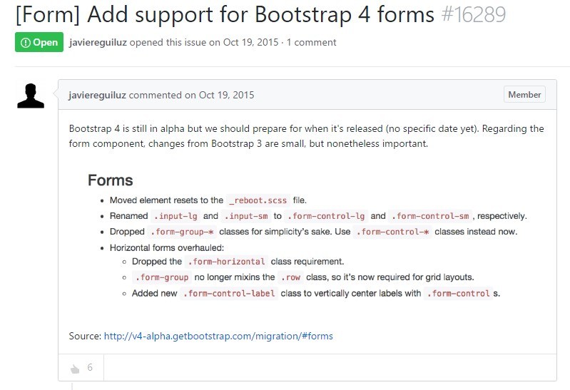 Support for Bootstrap Forms