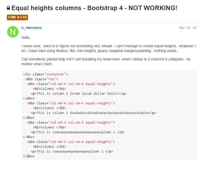 Complication with a heights of the Bootstrap columns