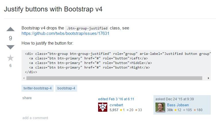 Establish buttons  using Bootstrap v4