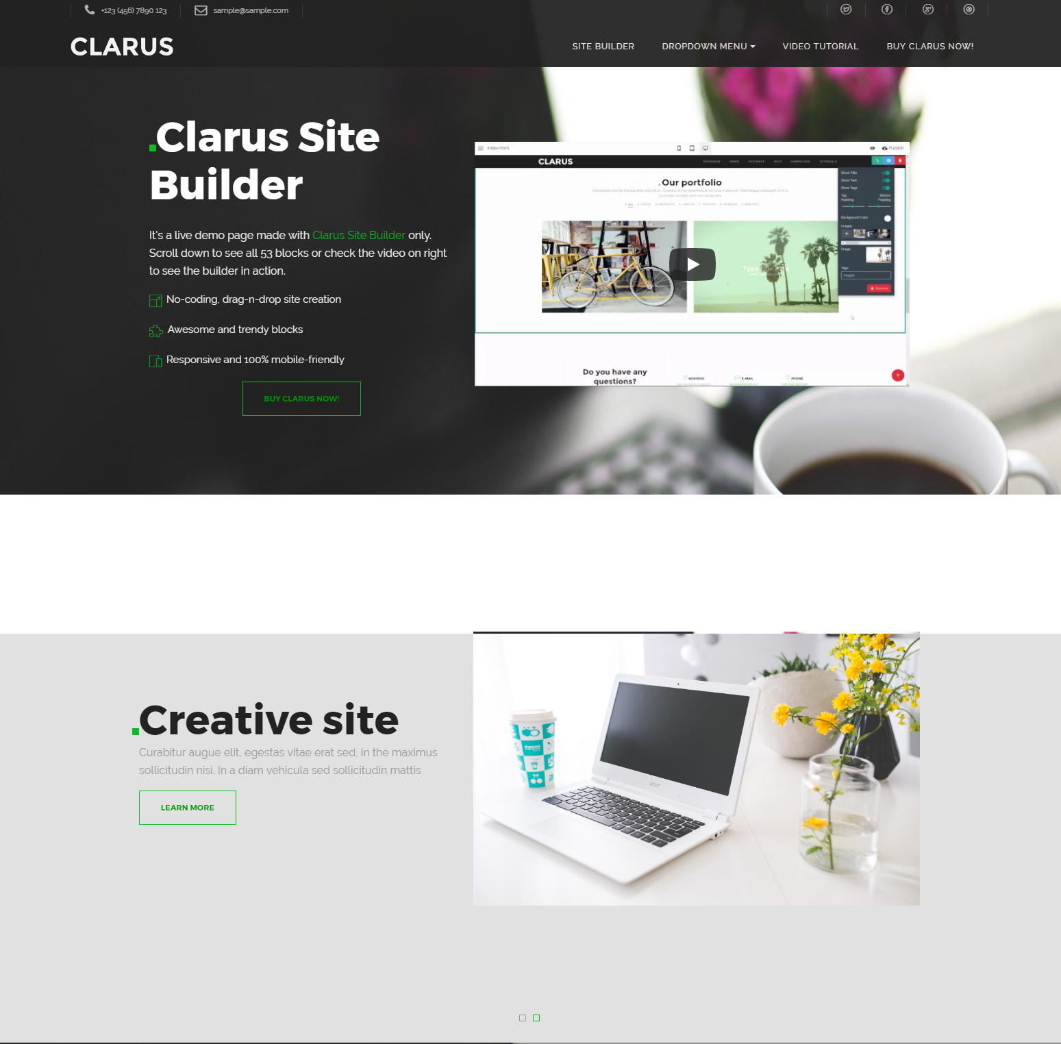 Responsive Bootstrap Clarus Templates