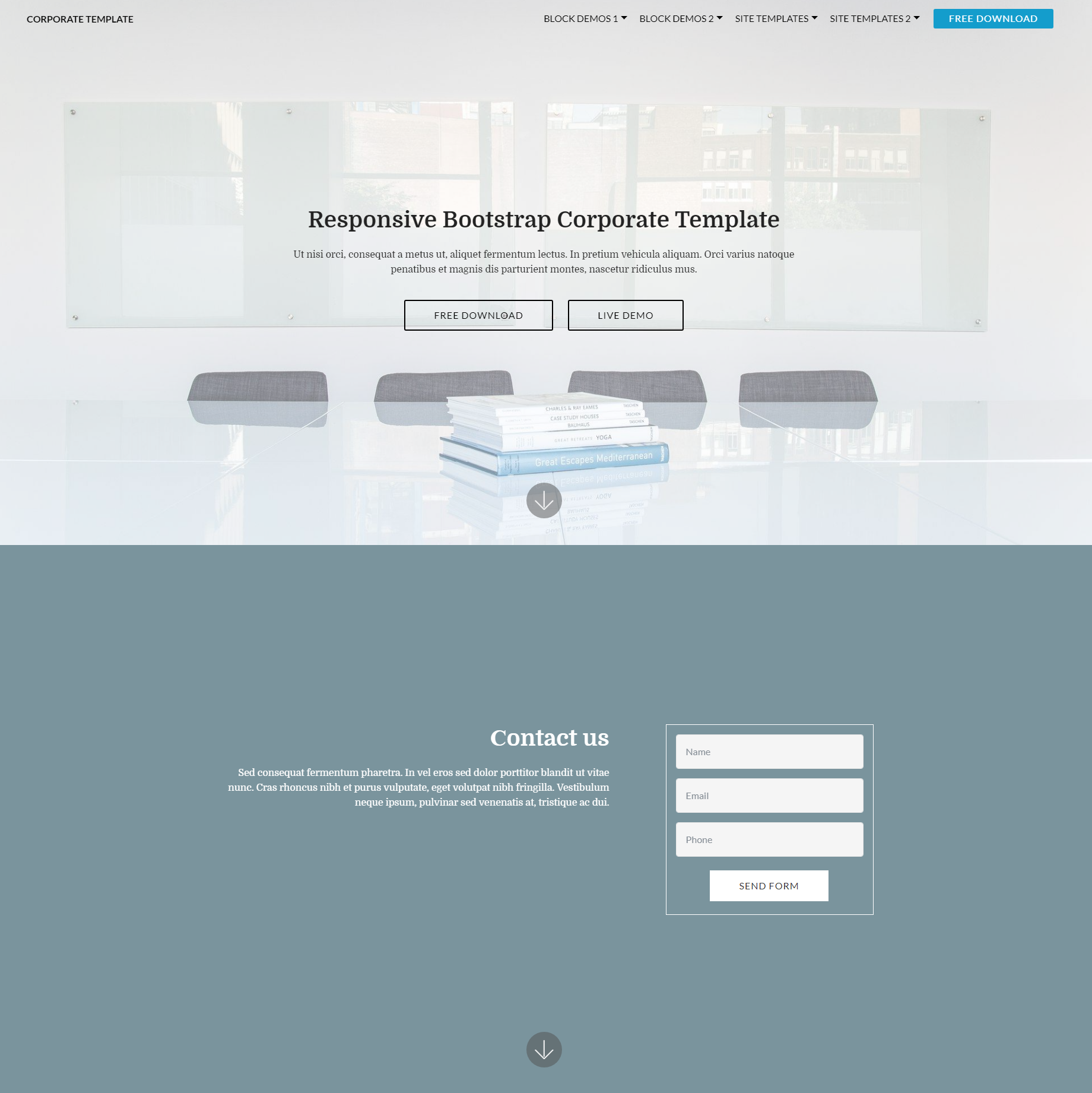 HTML Bootstrap Corporate Themes