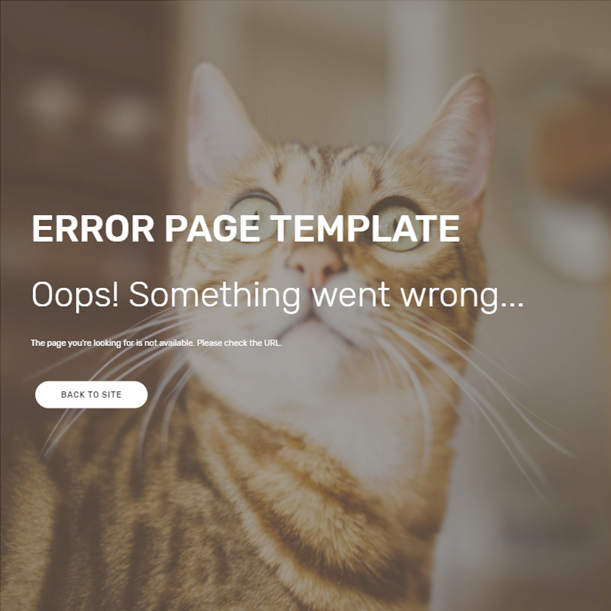 HTML Bootstrap Error Templates