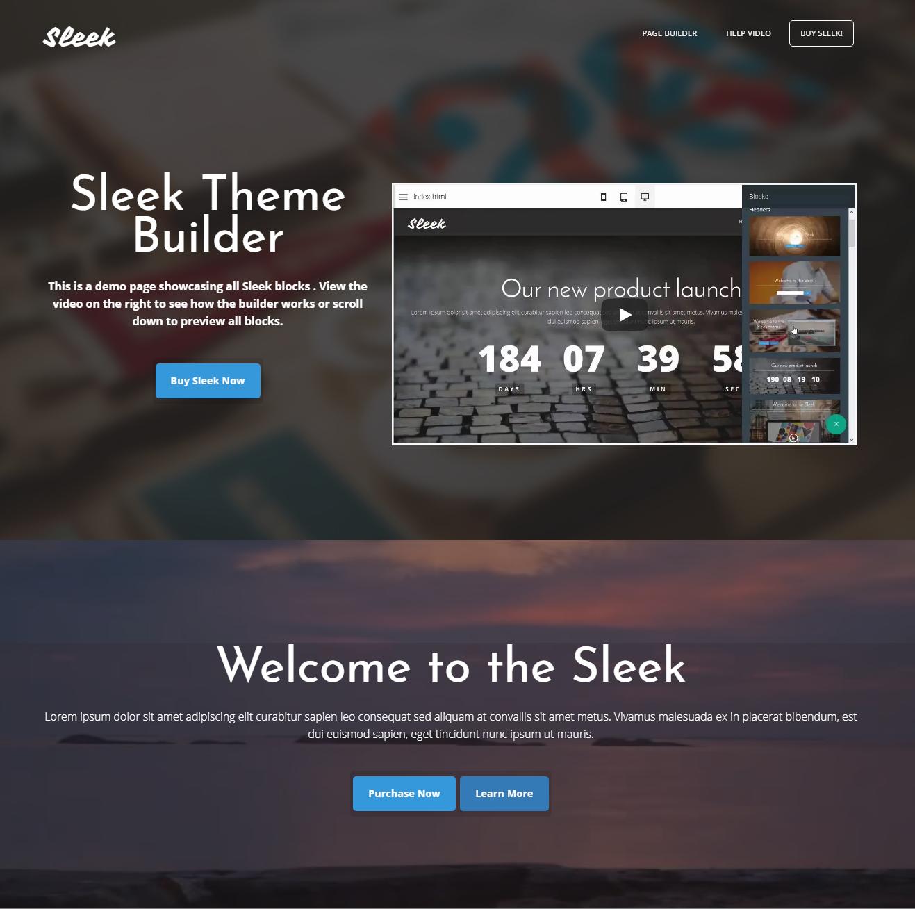 HTML5 Bootstrap Sleek Themes