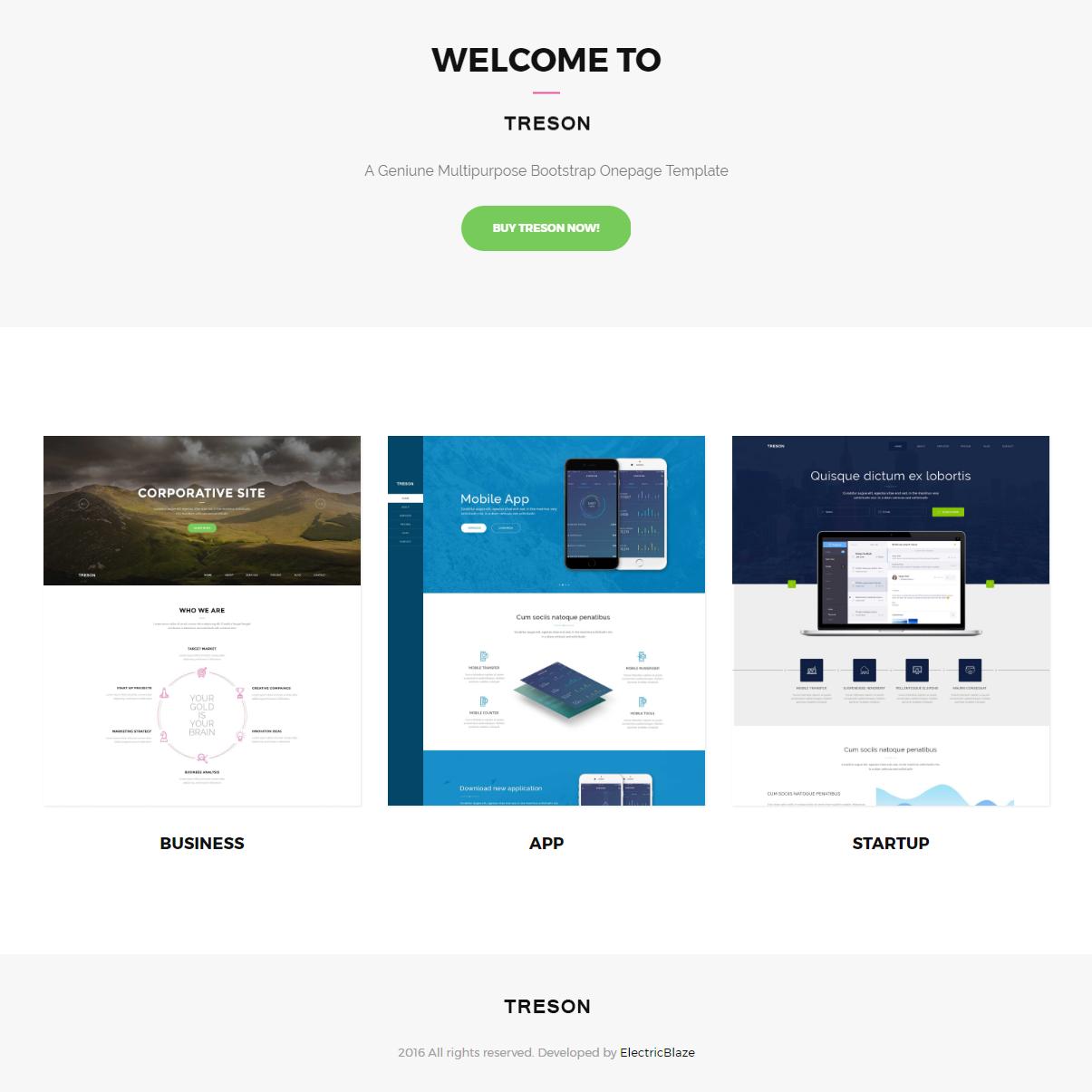 HTML Bootstrap Treson Themes