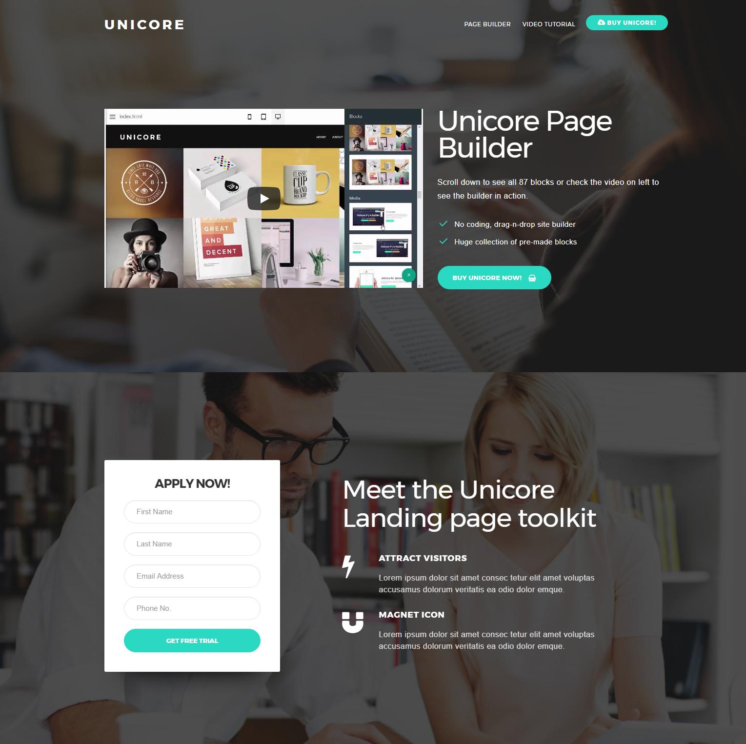 HTML Bootstrap Unicore Themes