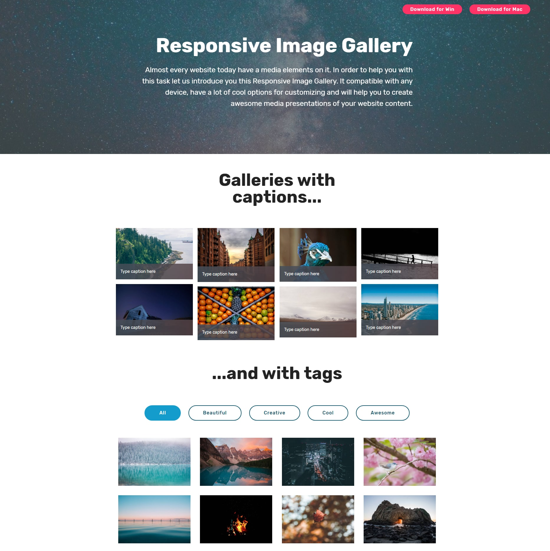 Mobile Bootstrap Illustration Gallery