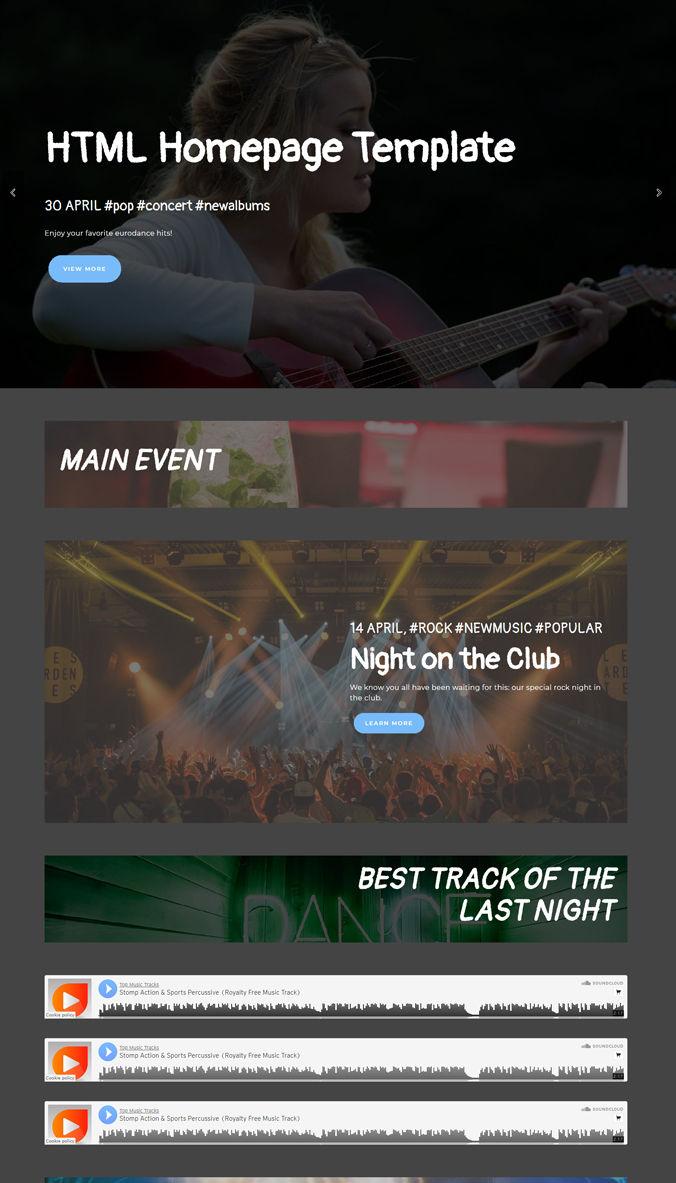 Website Homepage Templates