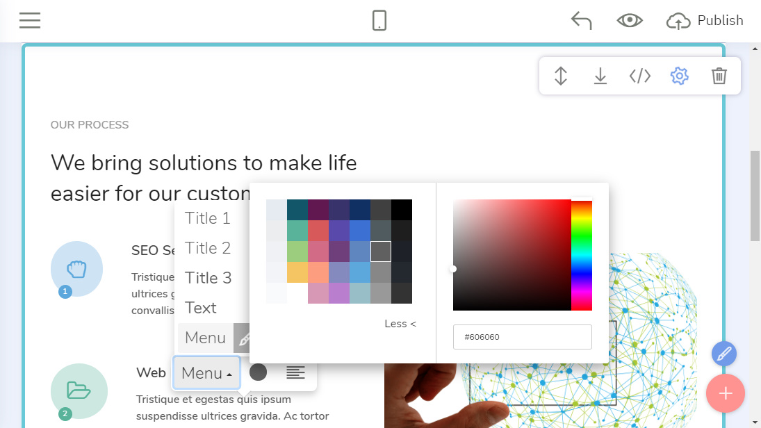 Mobile-Friendly Website Design Creator
